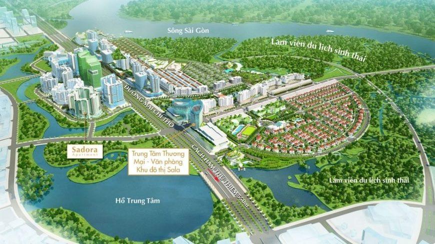 Quy hoạch tổng thể khu Đô Thị Sala Quận 2