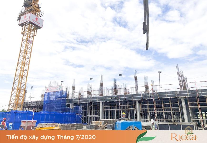 Cập nhật tiến độ xây dựng dự án căn hộ Ricca Quận 9