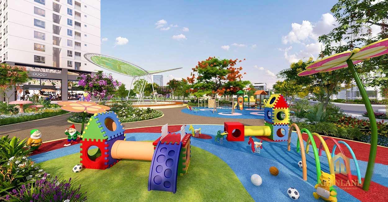 Khu vui chơi trẻ em và sân thể thao đa năng