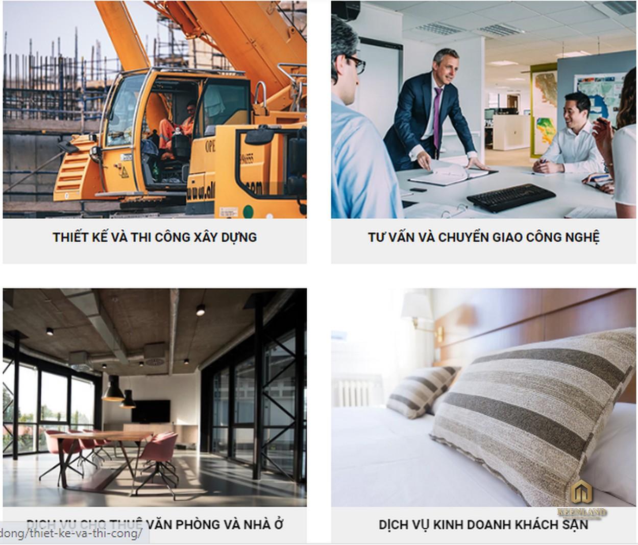 Các lĩnh vực hoạt động của công ty cổ phần địa ốc Bcons