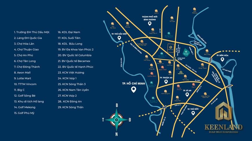 Vị trí địa chỉ Icon Plaza Thuận An