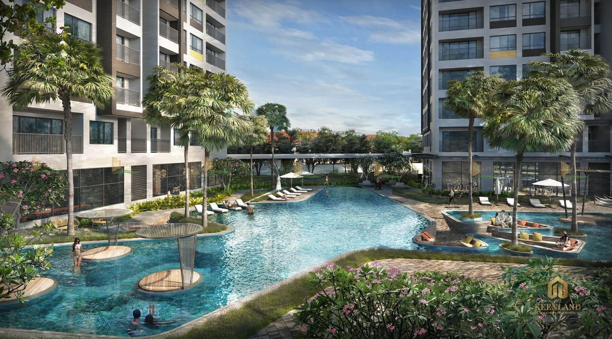 Hồ bơi đẳng cấp của dự án Masterise Homes An Phú