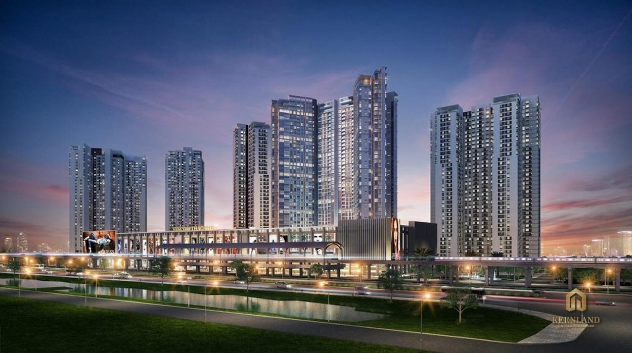 Dự án căn hộ Masterise Homes Thảo Điền quận 2 lung linh về đêm
