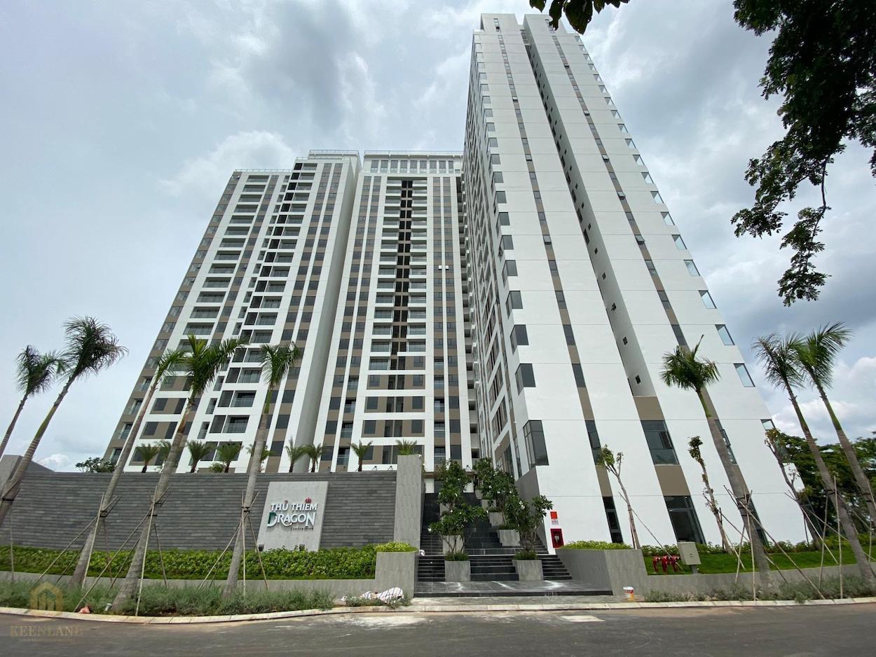 Phối cảnh thực tế dự án căn hộ Thủ Thiêm Dragon Quận 2