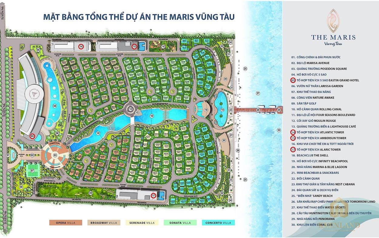 Mặt bằng biệt thự The Maris Vũng Tàu