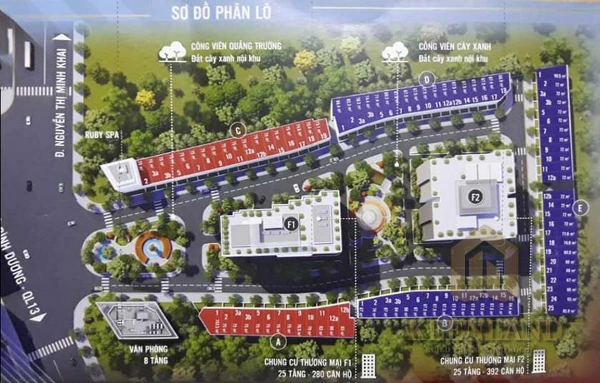 Mặt bằng dự án căn hộ Anderson Park Thuận An Đường Thuận An chủ đầu tư Quốc Cường