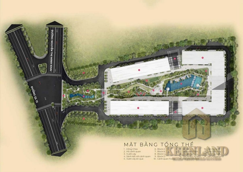 Mặt bằng dự án căn hộ Anderson Park Thuận An Đường Thuận An