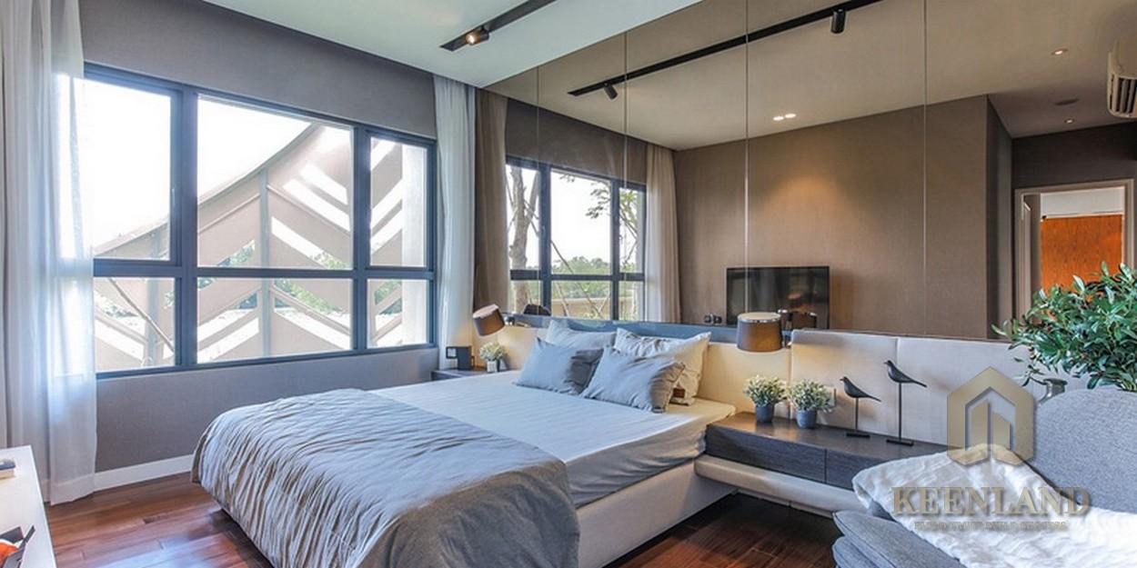 Phòng ngủ nhà mẫu dự án căn hộ chung cư Palm Heights Quận 2