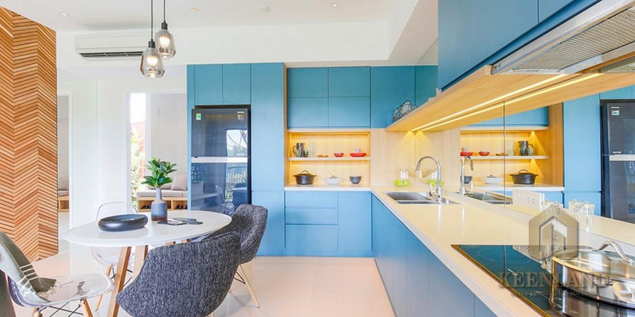 Phòng bếp nhà mẫu dự án căn hộ chung cư Palm Heights Quận 2