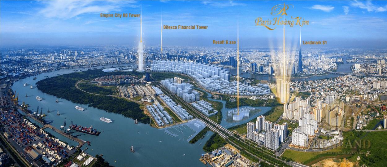 Thiết kế dự án căn hộ chung cư Paris Hoàng Kim Quận 2 Đường Lương Định Của chủ đầu tư Công Ty Khởi Thành