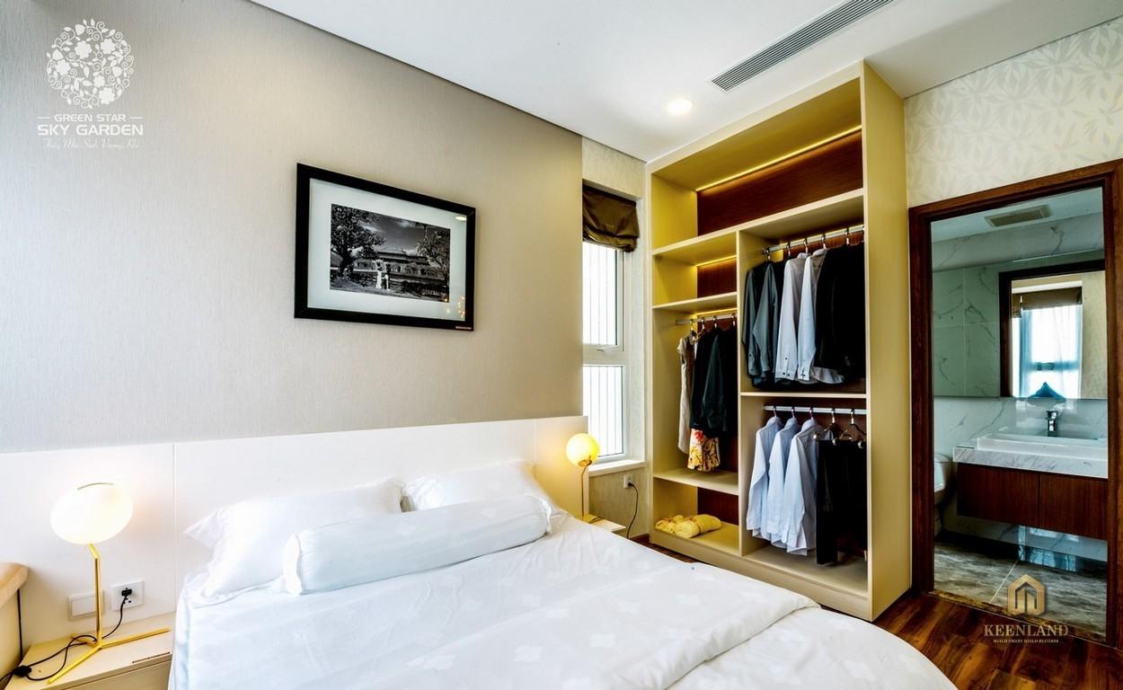 Nhà mẫu dự án Green Star Sky Garden 2PN - Phòng ngủ