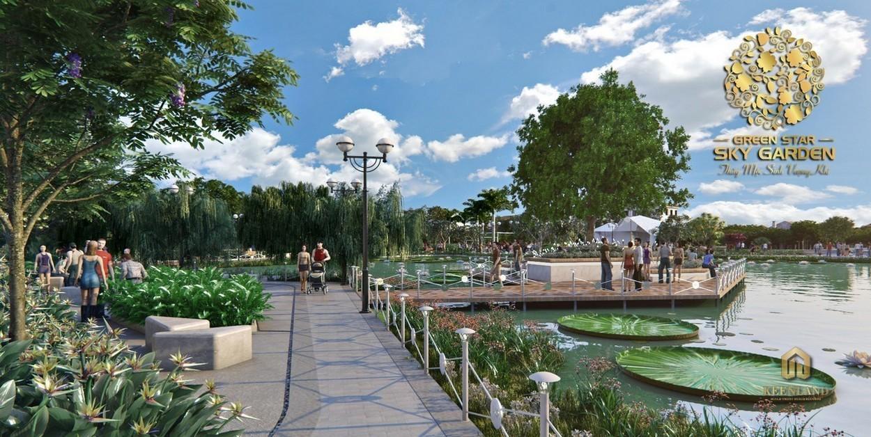 Công viên nội khu dự án Green Star Sky Garden Quận 7