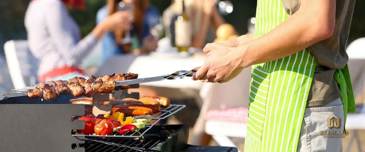 Vườn nướng BBQ tại dự án Mỹ Phú Quận 7