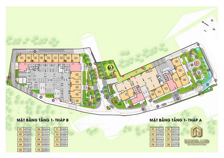Mặt bằng dự án căn hộ Opal Skyline Thuận An