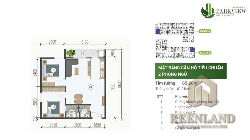 Thiết kế dự án căn hộ Park View Thuận An Đường Nguyễn Du chủ đầu tư Sudic