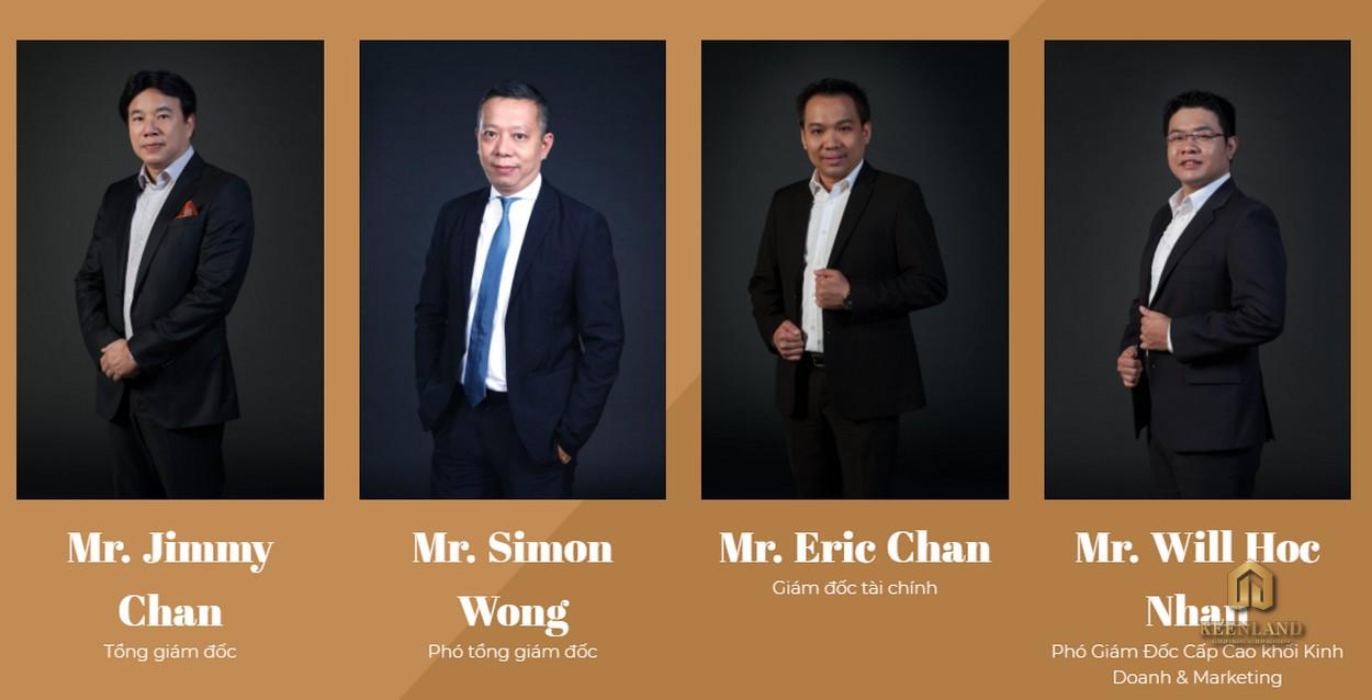 Các lãnh đạo của chủ đầu tư Alpha King