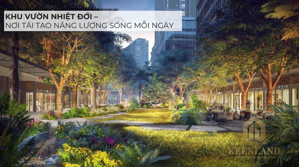 Vườn nhiệt đới với không gian sống xanh tái tạo năng lượng mỗi ngày