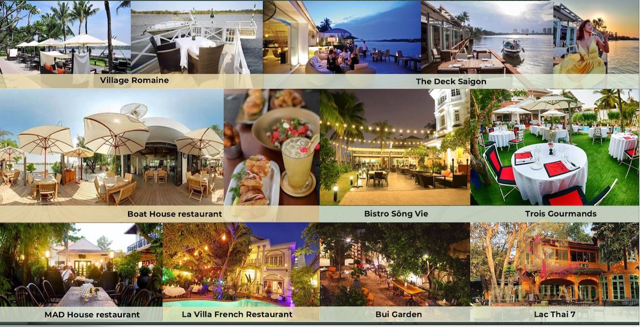 Thảo Điền là nơi có nhiều nhà hàng với phong cách ẩm thực khác nhau