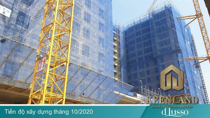 Tiến độ xây dựng dự án D'Lusso Quận 2 tháng 10