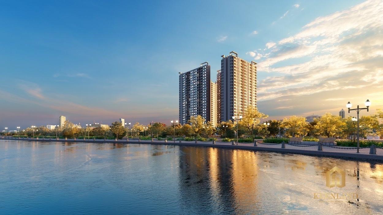 Phối cảnh dự án căn hộ The Rivana Thuận An