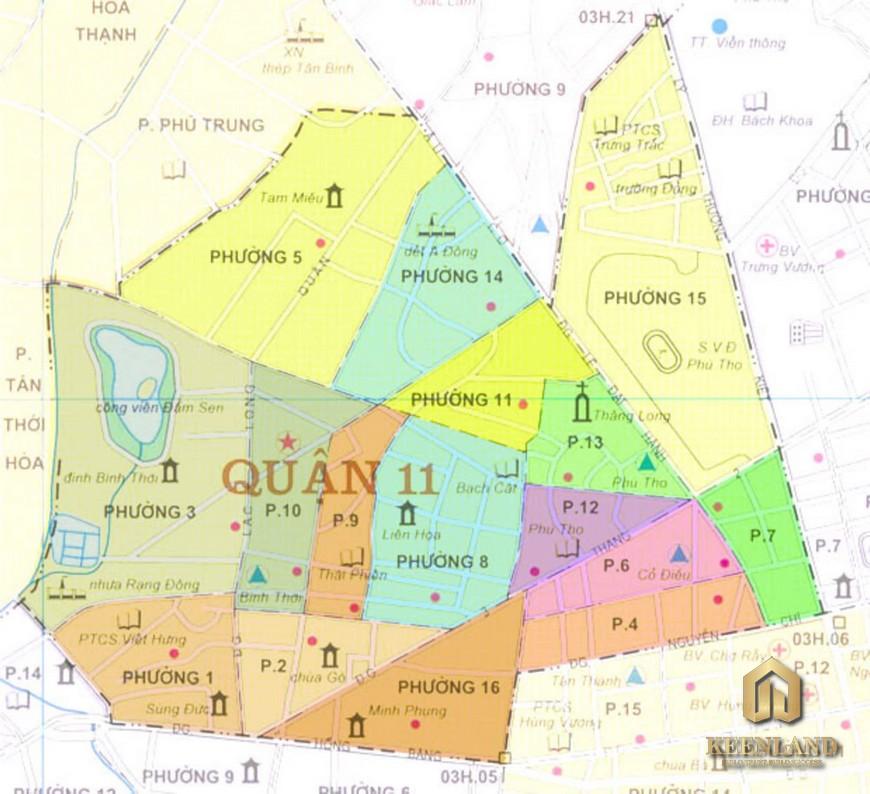 Bản đồ quy hoạch quận 11