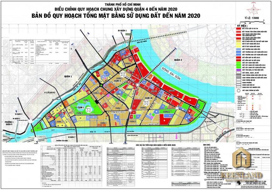 Bản đồ quy hoạch quận 4