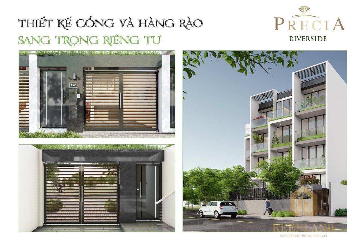 mặt bằng thiết kế nhà phố Precia Riverside Quận 2