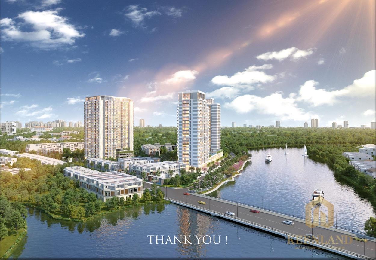 Precia Riverside Quận 2 là chuỗi nhà phố liền kề nằm ven sông được thiết kế theo phong cách compound khép kín hiện đại