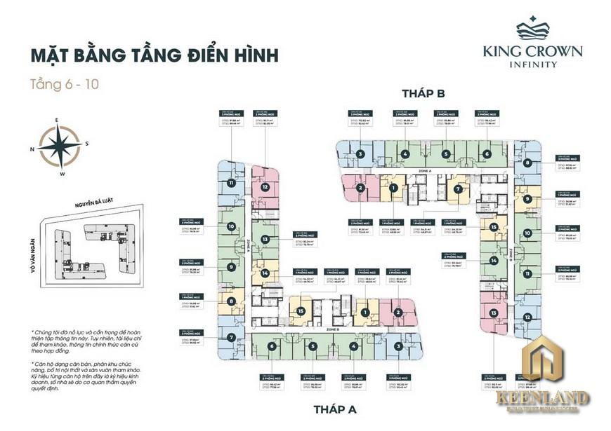 Mặt bằng dự án căn hộ King Crown Infinity