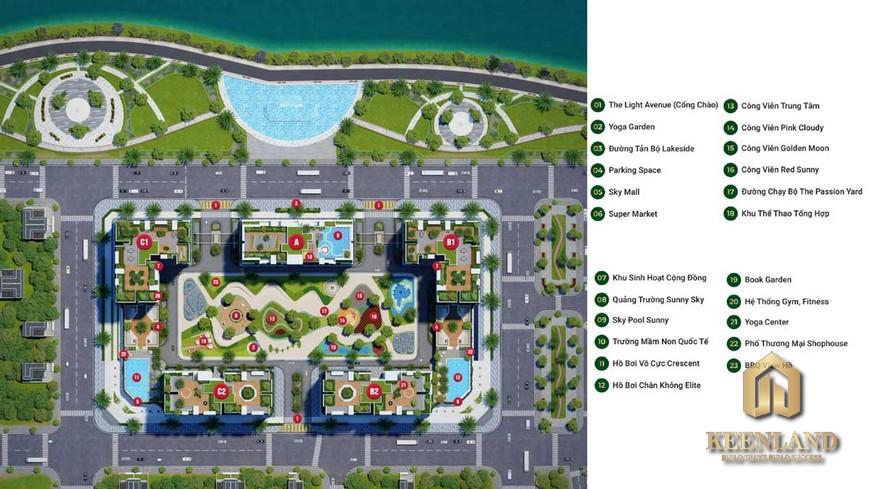 Mặt bằng dự án căn hộ LDG Sky