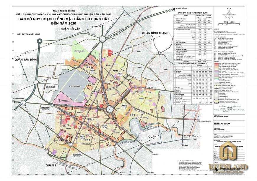 Bản đồ quy hoạch quận Phú Nhuận