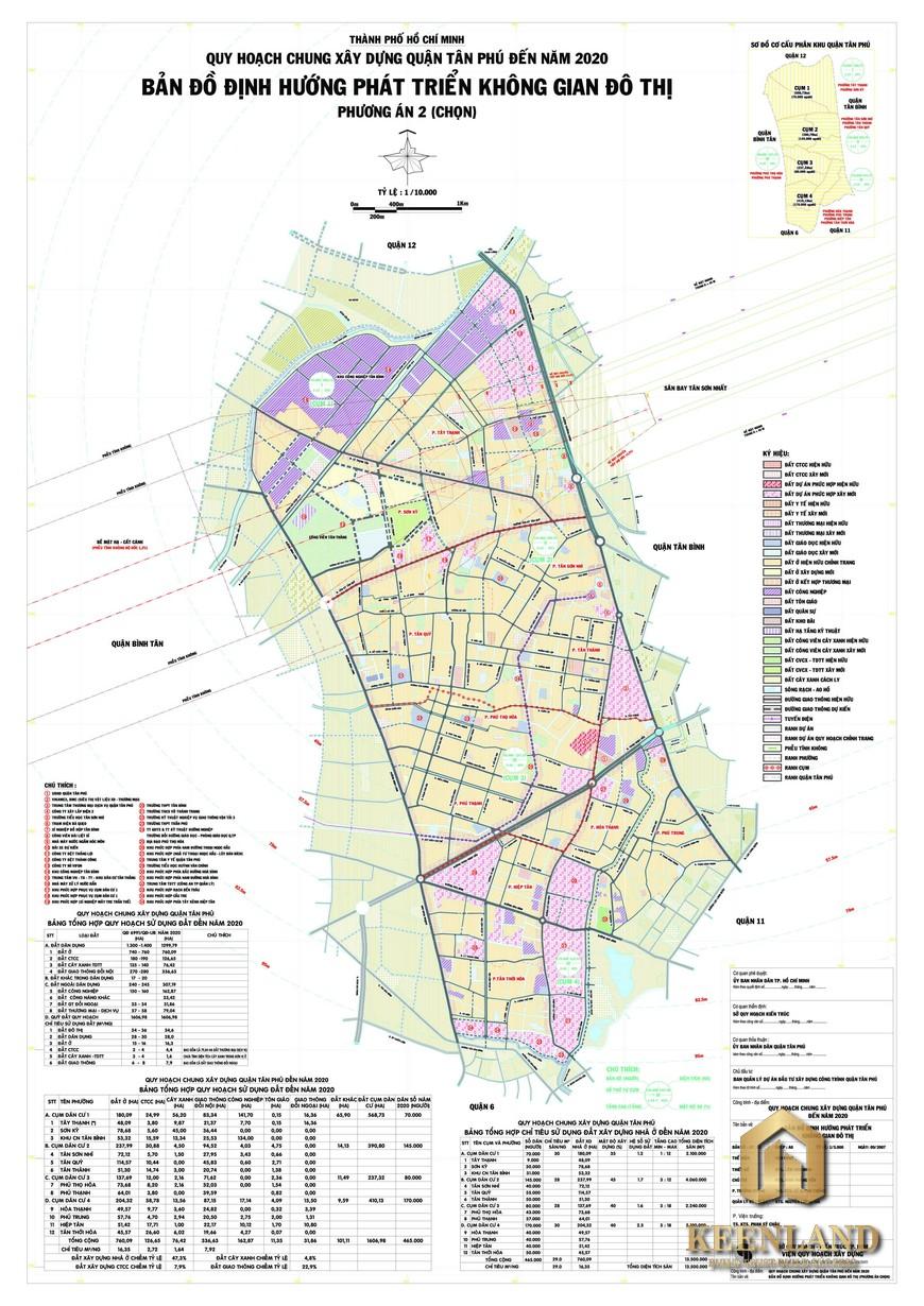 Bản đồ quy hoạch quận Tân Phú