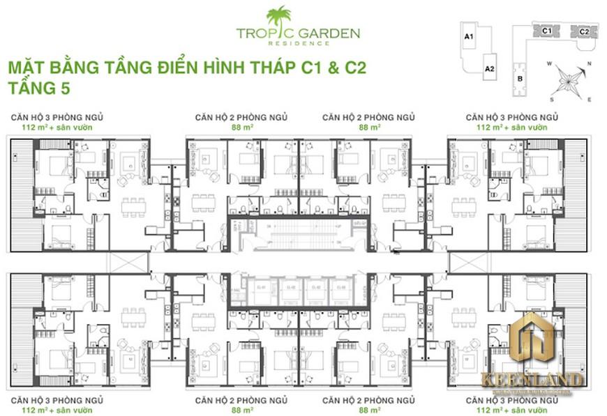 Mặt Bằng Căn Hộ Tropic Garden Quận 2