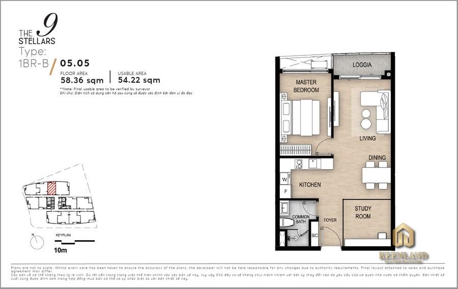 Mặt bằng dự án căn hộ The 9 Stellars Quận 9