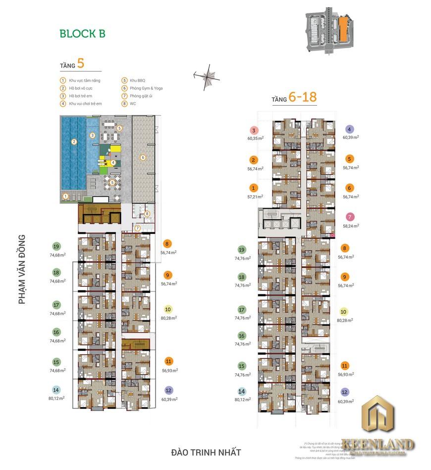 Mặt bằng và thiết kế căn hộ Flora Novia