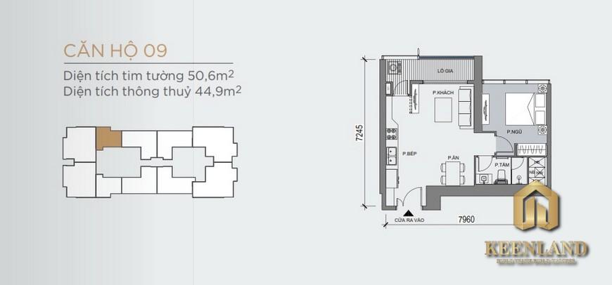 Mặt bằng và thiết kế căn hộ Grand Marina