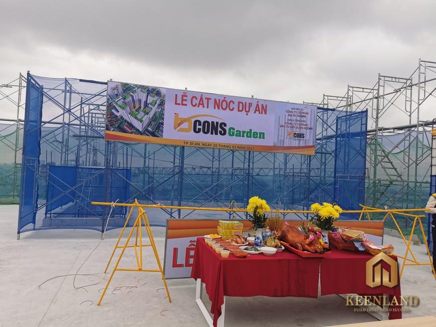 Tiến độ xây dựng dự án Bcons Garden Tháng 3