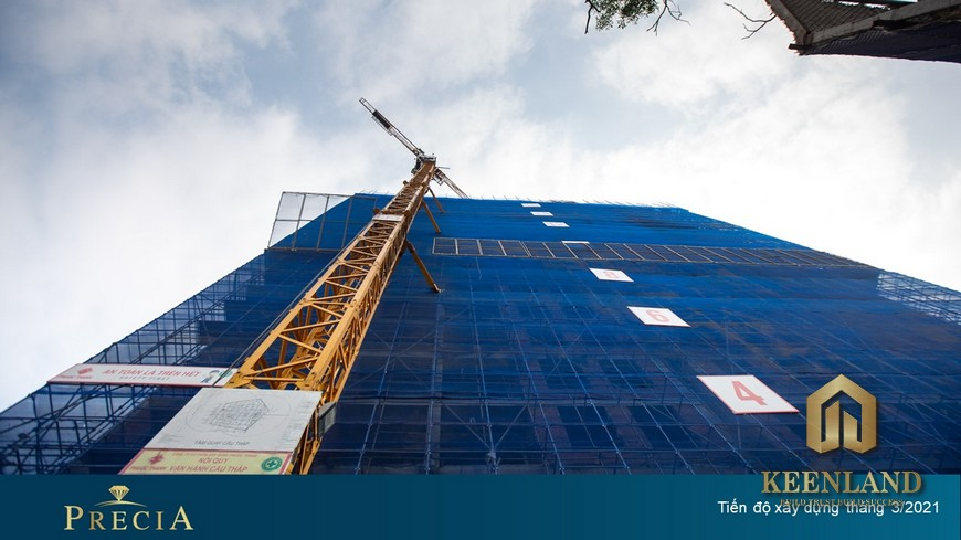 Tiến độ xây dựng dự án Precia Quận 2 Tháng 3 năm 2021