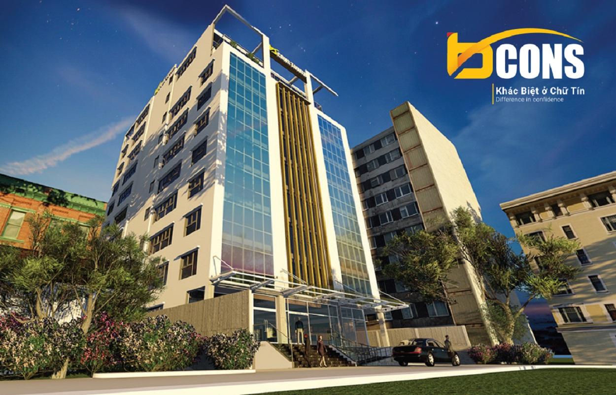 Phối cảnh tòa nhà Bcons Tower 1
