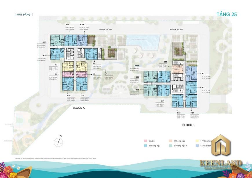 Mặt bằng dự án căn hộ D Aqua