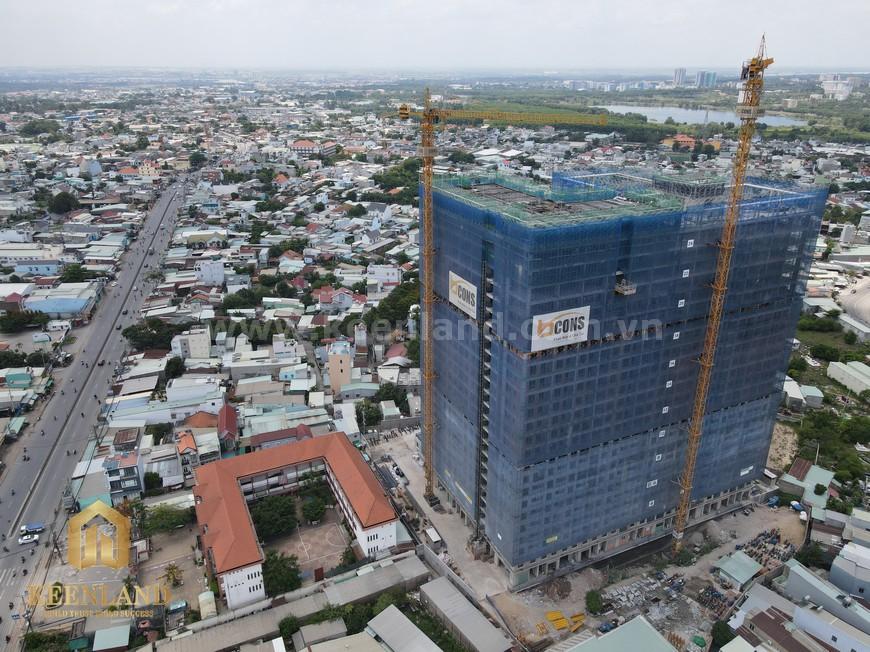 Tiến độ xây dựng căn hộ Bcons Green View update tháng 05/2021