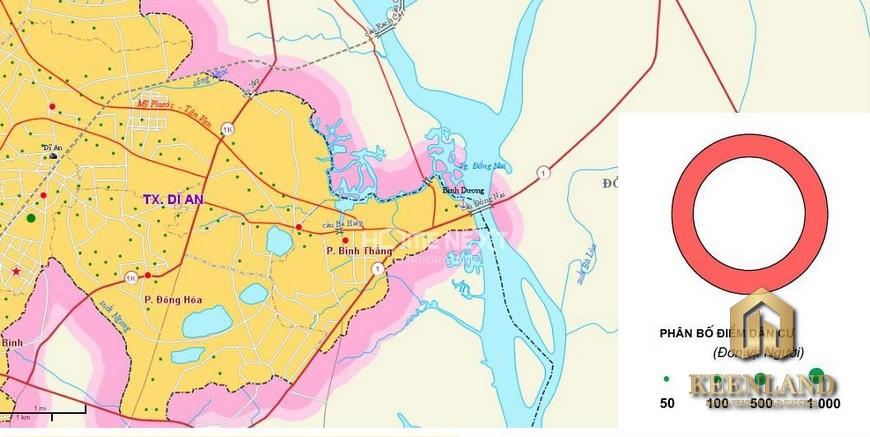 bản đồ quy hoạch Thành phố Dĩ An