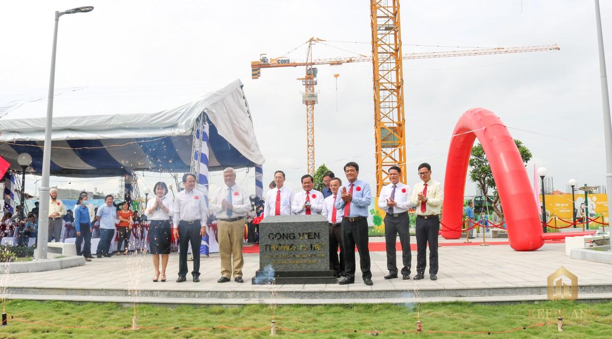 Lãnh đạo TP. Dĩ An cùng Tập đoàn BCONS khánh thành công viên Thống Nhất