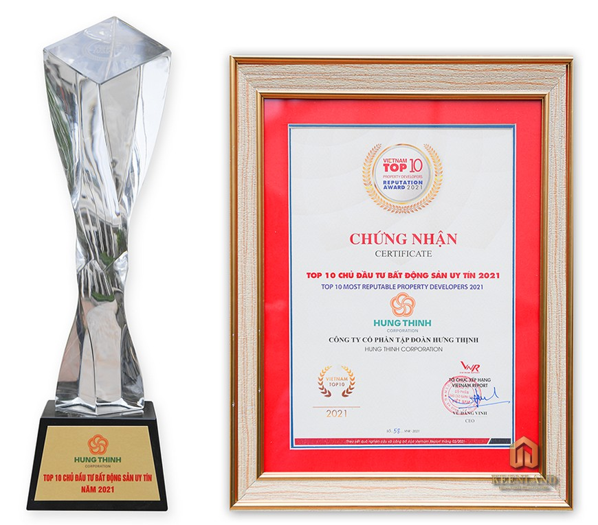 Giải thưởng đạt được của chủ đầu tư Hưng Thịnh