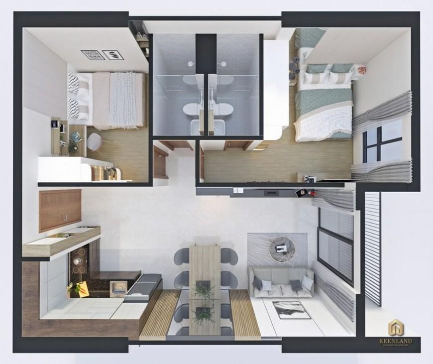 Thiết kế căn hộ - Lý do nên mua căn hộ Bcons Sala Dĩ An