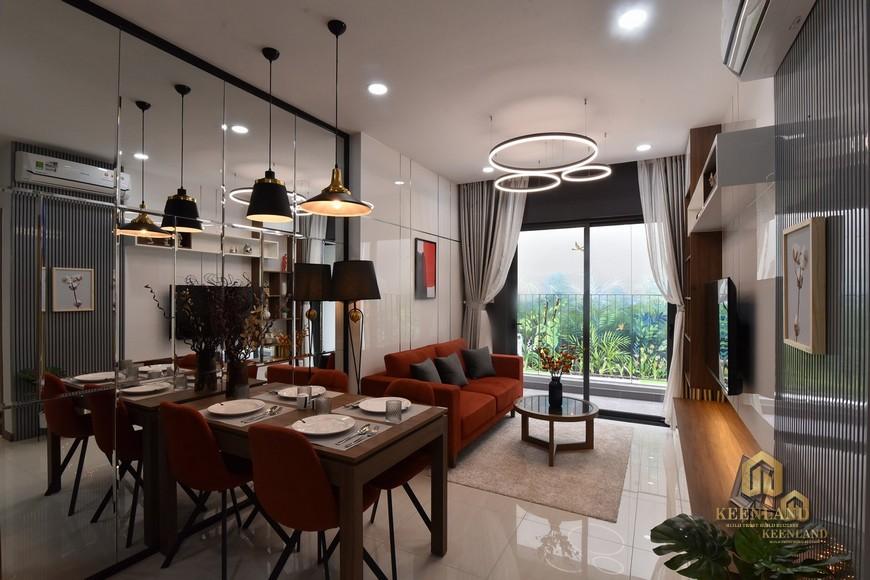 Phòng khách nhà mẫu - Mặt bằng và thiết kế căn hộ Bcons Sala