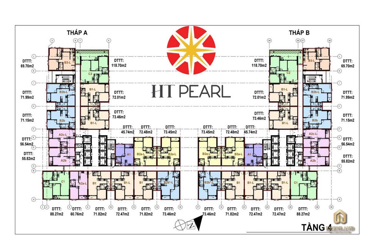 Mặt bằng điển hình dự án HT Pearl Bình Dương