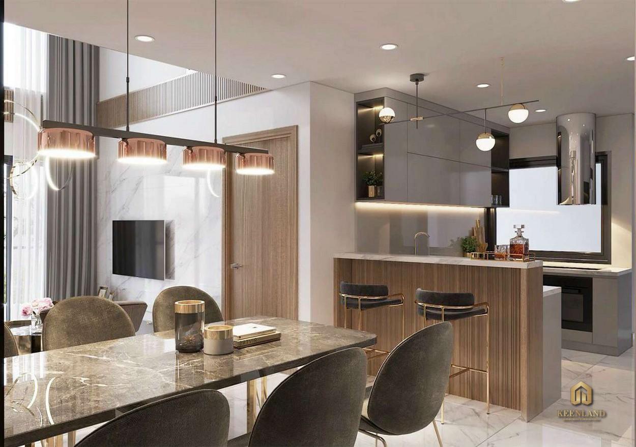 Khu vực phòng bếp - Nhà mẫu dự án HT Pearl