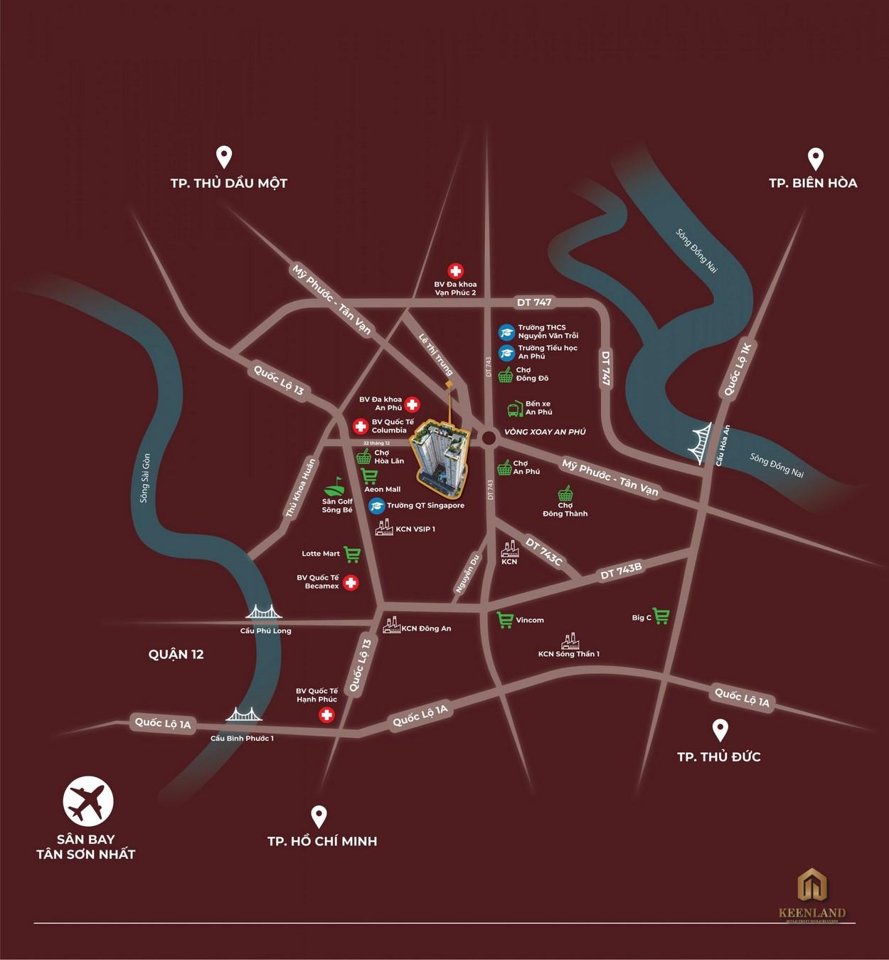 Vị trí dự án căn hộ Tecco Felice Homes Thuận An