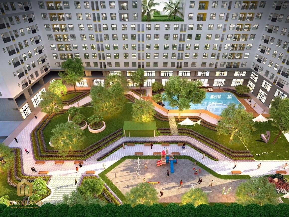 Góc nhìn nội khu dự án Bcons Garden
